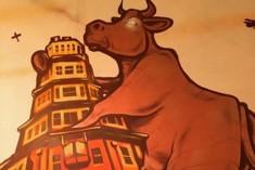 The huge cow!