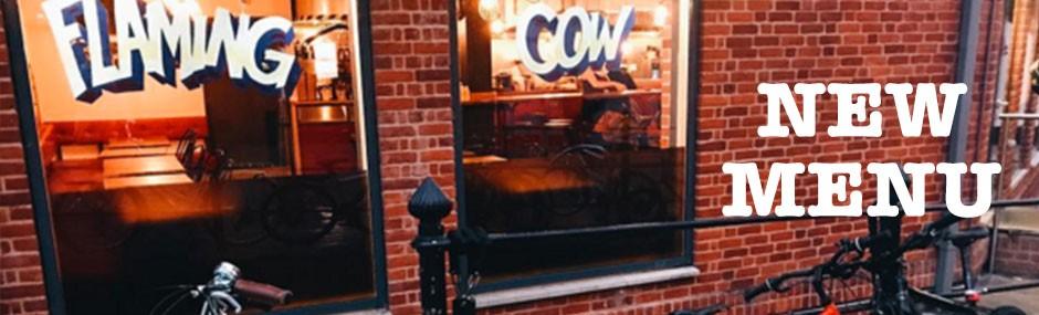 new menu eton flaming cow